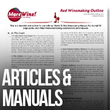 Manuals and Articles on wine making