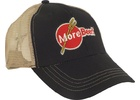 MoreBeer!® Trucker Hat - Black and Tan