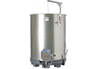 Speidel 1600L, 1200mm Diameter FO-M Variable Volume Dish Bottom Red Fermentation Tank w/ Forkliftable PF Base and Lid