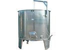 2200L Variable Volume/Conical Bottom Red Fermentation Tank w/ Manway