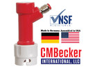 CM Becker Pin Lock Gas In - Flare