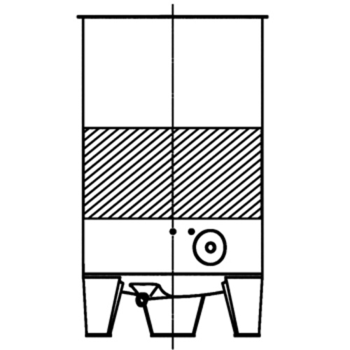 Cooling Jacket for Speidel FO- & FO-M-100-1100 Tank; L2 Layout, B2 Connection