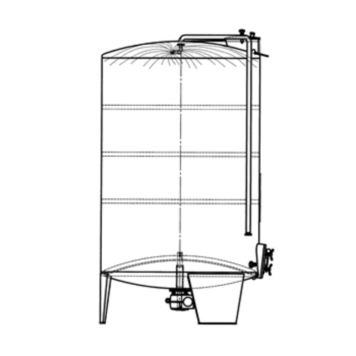Speidel 9300L FD-MUAK Sealed Red Wine Fermenter w/ Pumpover Assembly, Standard Manway and Motorized Must Ejection