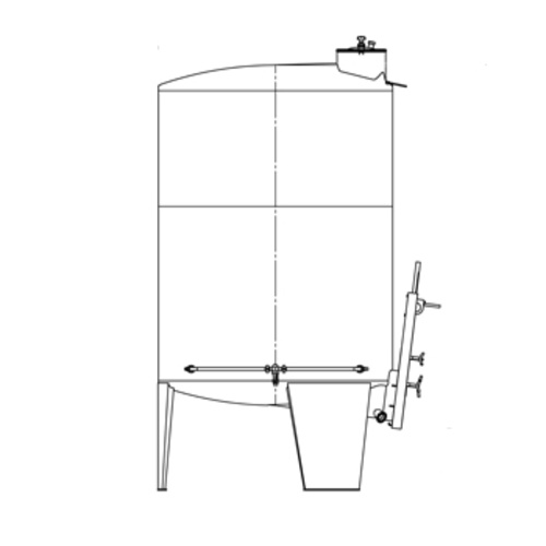 Speidel 6000L/2000 mm Diameter FD-DFTS Sealed Red Wine Fermenter w/ Pulse-Air System and Gate-Style Manway