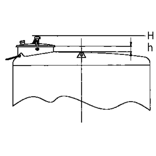 Top Hatch for Sealed Tanks: 400mm Diameter, Forward Set w/ Plumb Position, 150 mm Neck Height