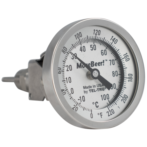 MoreBeer! Adjustable Dial Thermometer - 3 in. Face x 2 in. Probe ... a0c4aa4874b16