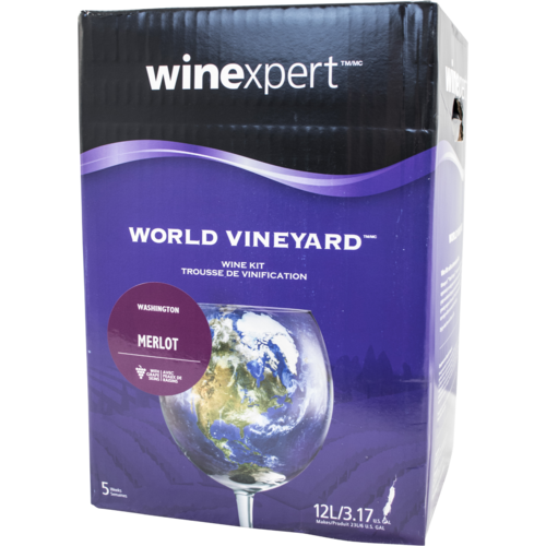 Winexpert World Vineyard Washington Merlot Wine Recipe Kit