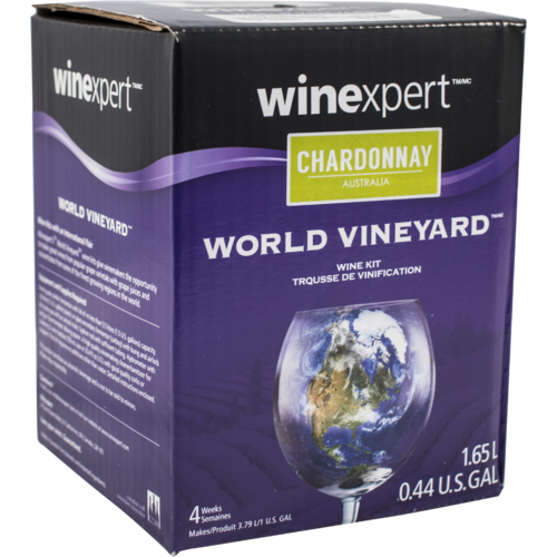 Winexpert World Vineyard Australian Chardonnay 1 Gallon Wine Recipe Kit