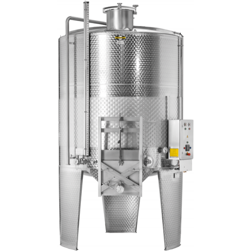 Speidel 10,000L/2000 mm Diameter FD-MUTK Sealed Red Wine Fermenter w/ Pumpover Assembly and Standard Manway