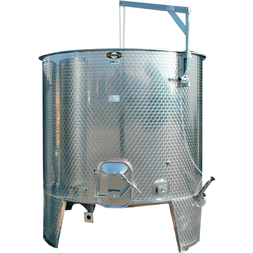 1600L Variable Volume/Conical Bottom Red Fermentation Tank w/ Manway