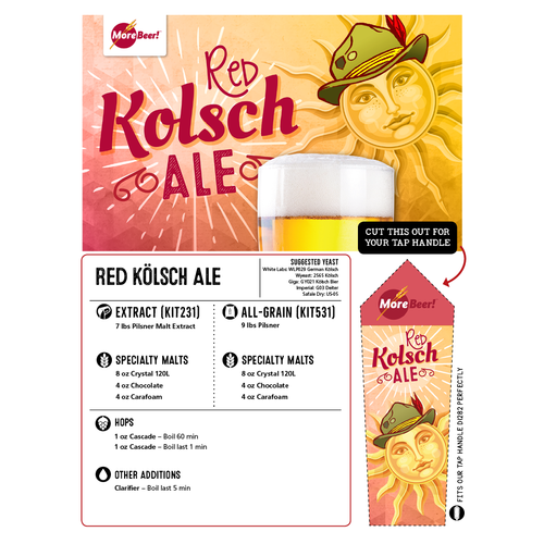 Red Kolsch Ale - Extract Beer Kit