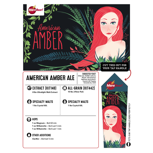 American Amber Ale - All Grain Beer Kit (Advanced)