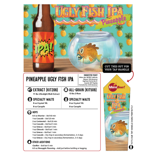 Pineapple Ugly Fish IPA - Extract Beer Kit