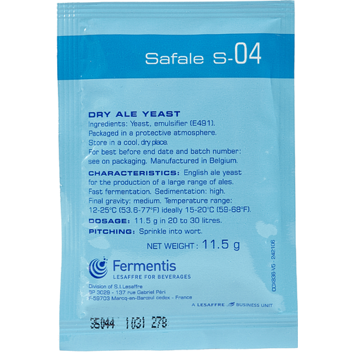 Fermentis Dry Yeast - Safale S-04