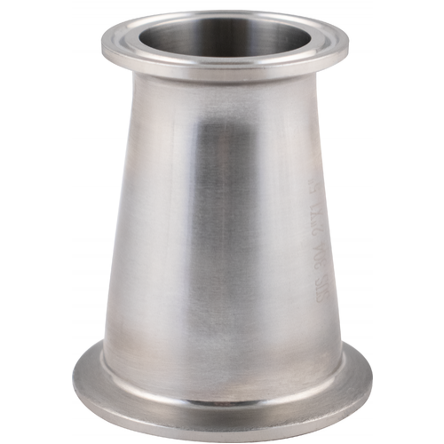 Stainless Tri-Clamp Concentric Reducer - 2 in. T.C. x 1.5 in. T.C.
