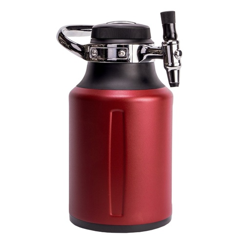 GrowlerWerks uKeg GO Pressurized Growler - 64 oz. - Chili