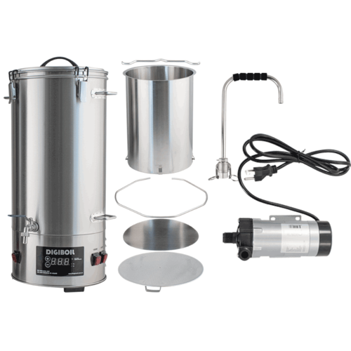 DigiMash Electric Brewing System w/ Recirculation Pump Kit - 35L/9.25G (220V)