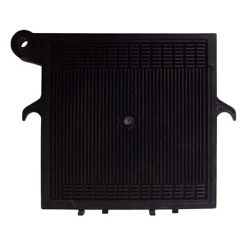 20x20 Noryl End Plate (Black) - Pump Side
