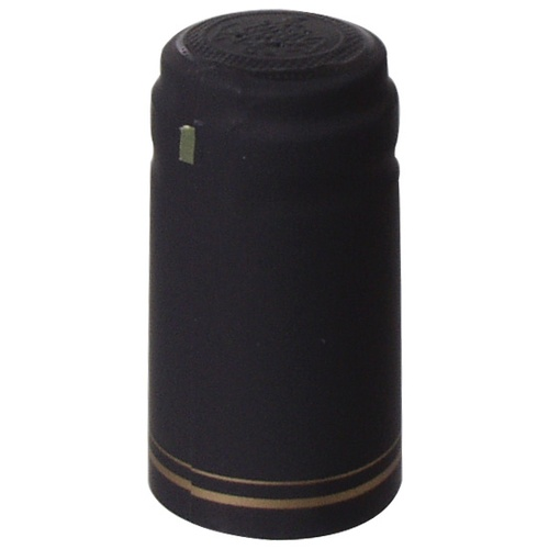 Heat Shrink Sleeves - Black W/Gold Stripe
